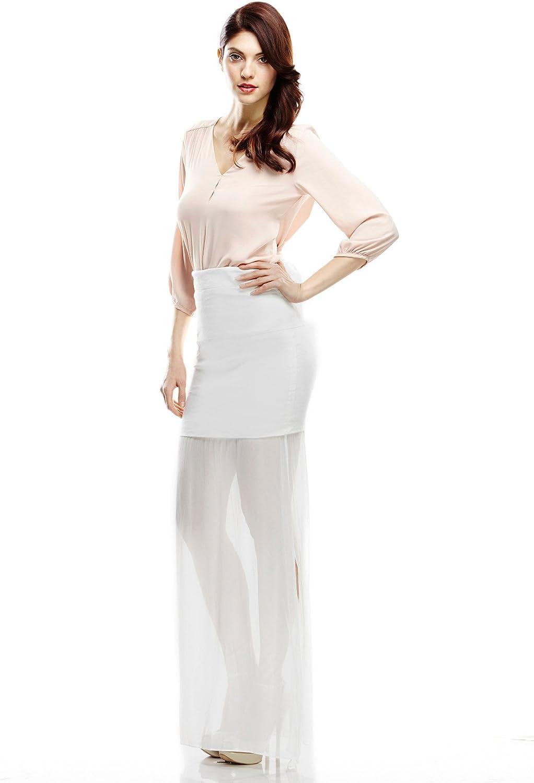 Nicole Miller Cotton Metal Skirt, 6, White