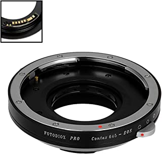Fotodiox Pro Lens Mount Adapter Compatible with Contax 645 (C645) Mount Lenses to Canon EOS (EF, EF-S) Mount D/SLR Camera Body - with Gen10 Focus Confirmation Chip and Built-in Aperture Iris
