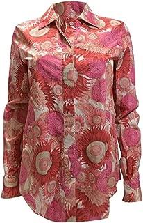 Salvatore Ferragamo Pink Floral Blouse 40