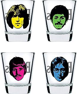 Shot Glass - Beatles   Set of 4 Glasses   Men Gift Set