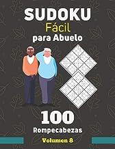 Sudoku Fácil para Abuelo. 100 Rompecabezas Volumen 8: sudoku con solución para personas mayores, Regalo para Abuelo.