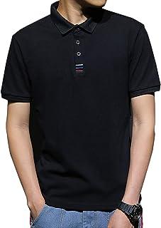 JinsX ポロシャツ メンズ 半袖 polo シャツ 無地 通気性 吸汗速乾 3釦仕様です ゴルフ ゴルフウェア ビジネス シンプル 快適 薄手 立っている襟 綿100% 夏...
