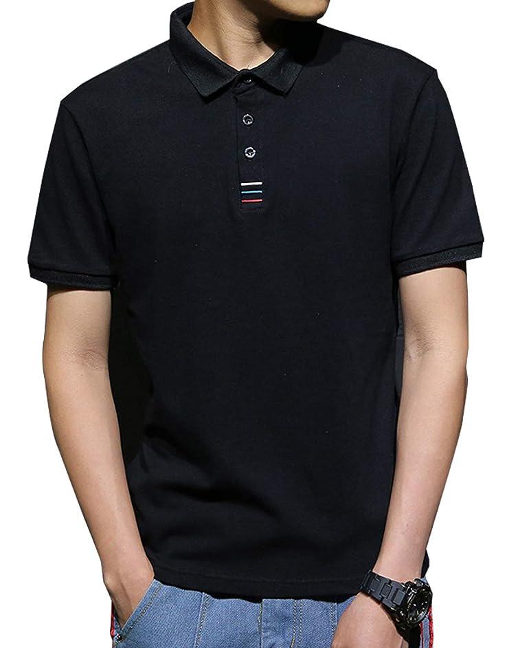 興奮する宇宙の喜劇JinsX ポロシャツ メンズ 半袖 polo シャツ 無地 通気性 吸汗速乾 3釦仕様です ゴルフ ゴルフウェア ビジネス シンプル 快適 薄手 立っている襟 綿100% 夏季対応 トップス