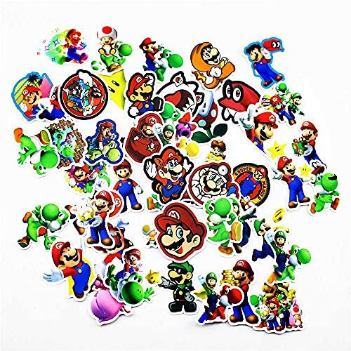 Adesivi anime 200 Pz/lotto Super Mario Gioco Adesivi Bagaglio da viaggio Telefono Chitarra Portatile Classico Adesivo Cartoon Decalcomanie Divertimento per Giocattoli per bambini Regalo