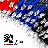 Penna a sfera a scatto Z Grip, confezione risparmio da 40 pezzi, colori: nero, blu e rosso...