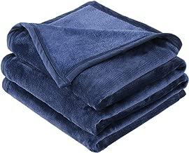 EMME Fleece Blanket Super Soft Microfiber Bed Blanket Lightweight Warm Cozy Nap Luxury Couch Bed Throw (Navy, 50