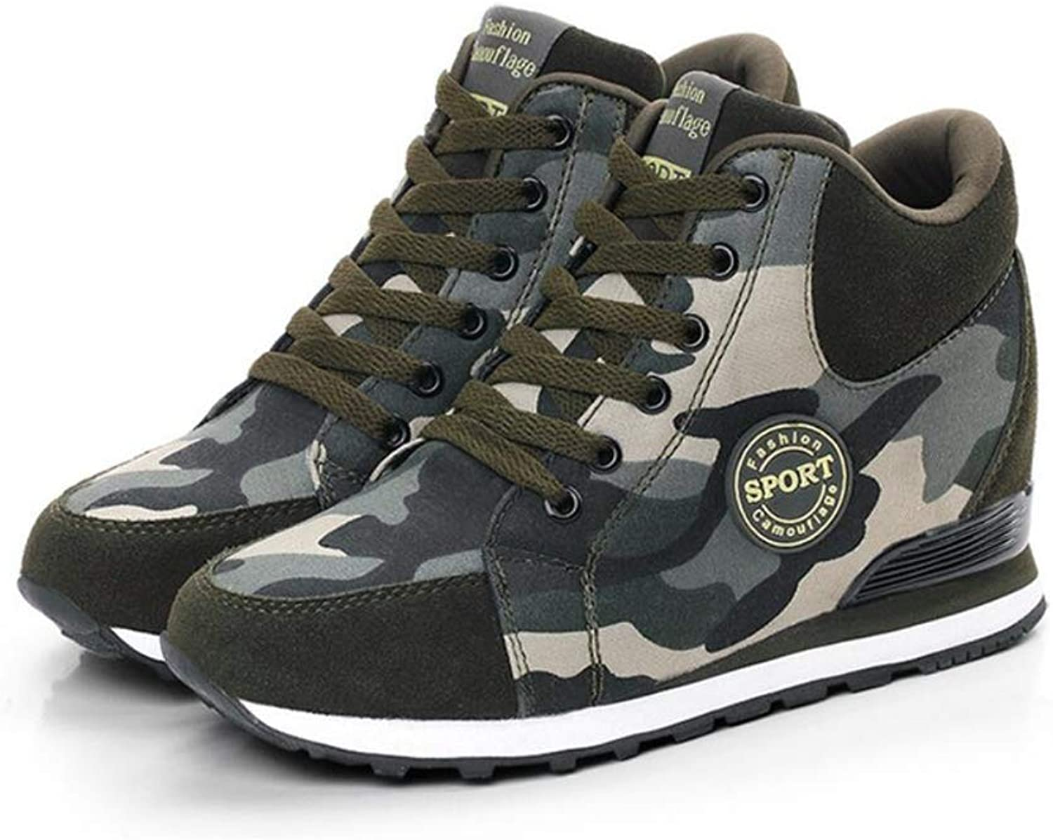 Excellent.c Autumn Increase Camouflage shoes Women Canvas Sports Running shoes