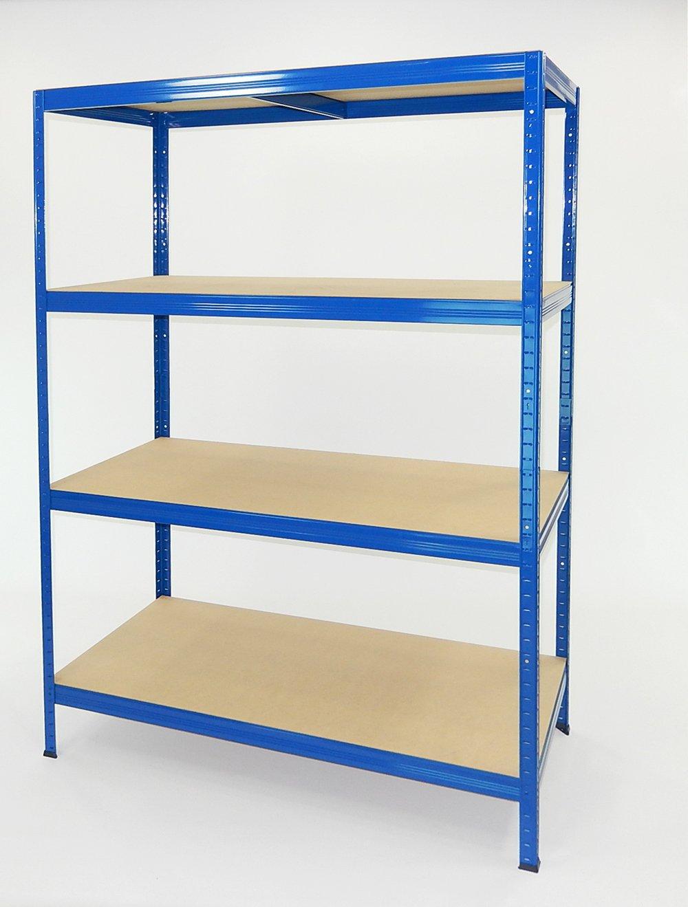 Futtal Etagere Metallique De 180 X 120 X 60 Cm Avec 4 Niveaux Bleu Tres Intense Bleu Amazon Fr Bricolage