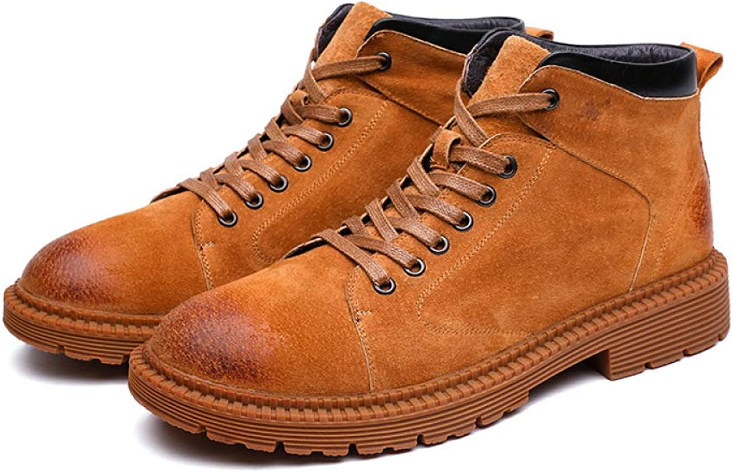 Autumn Martin Boots High Top Boots Round Head Vintage Student Men's Boots