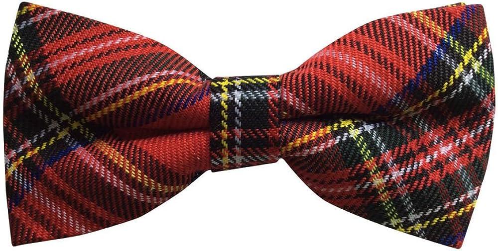 Mens Scottish Royal Stewart Tartan Bow Tie