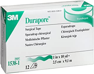 3M Durapore Surgical Tape 1 x 10 yd Box: 12 rolls