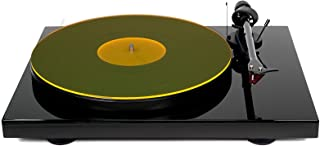 Acrylic Turntable Mat - YellowLit - LP Slipmat