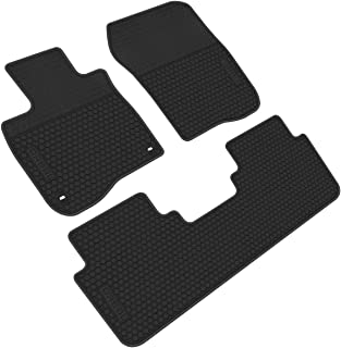 iallauto All Weather Floor Liners Custom Fit Honda CR-V CRV 5th 2017 2018 2019 Heavy Duty Rubber Car Mats Vehicle Carpet Odorless-Full Black