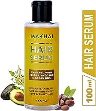 Makhai Hair Serum- Nourishing Anti-Hair Fall Treatment with Jojoba, Avocado & Argan Oil for All Hair types- 100ml