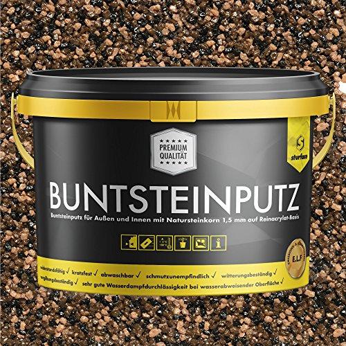 Buntsteinputz schwarz/braun/nude 20kg