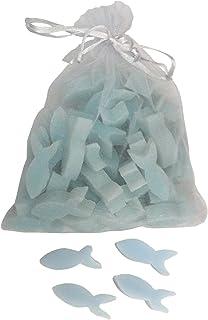 Florex Schafmilchseife mini mini Fische 50 Stück im Organzasäckchen Seife Gastgeschenk Vergissmeinnicht
