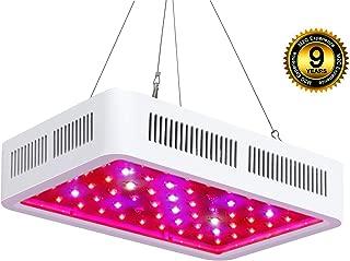 Roleadro LED Cultivo Interior 300W LED Grow Light Espectro de 9 Bandas Lamparas Led Indoor para Plantas Hidroponia Crecimiento y Floracion