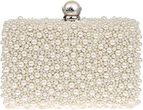 ZAKIA Women's Faux Pearl Beaded Evening Dress Bag Bridal Wedding Tote Party Wallet Clutch