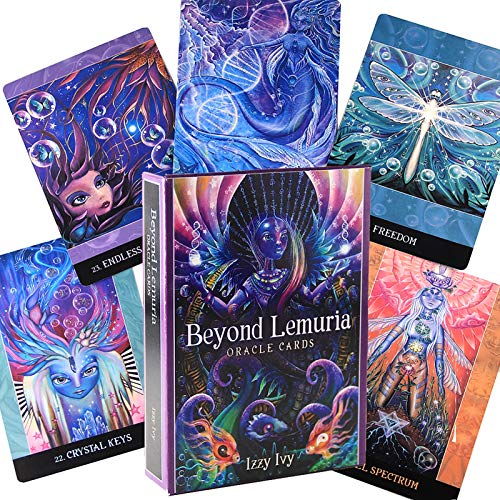 Interesting Beyond Lemuria Oracle Cards 56 Tarjetas, Juegos de Mesa para Fiestas Familiares, Divertidos Juegos de Cartas, Cura, Juego de Mesa de adivinación (versión en inglés)