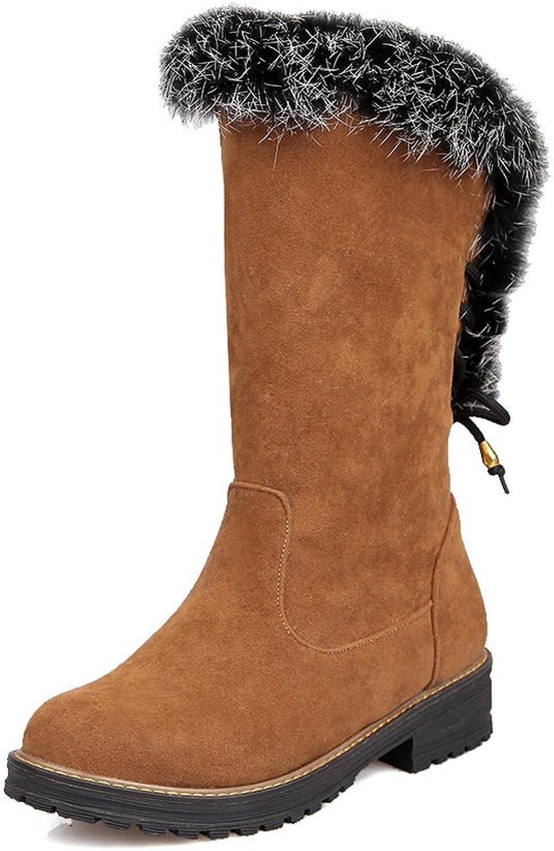 AdeeSu Womens Comfort Slip-Resistant Tassels Casual Retro Suede Boots SXC01821