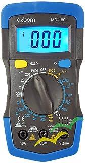 Multímetro Digital Portátil LCD 3 ½ Dígito Iluminado Dt830i Com Iluminação EXBOM