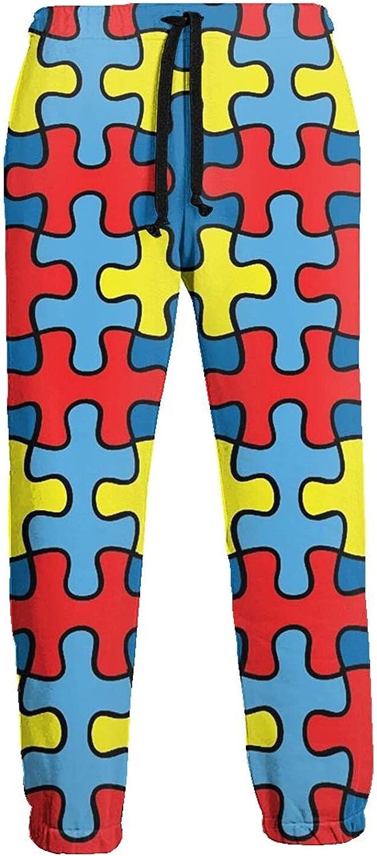 Mens Elastic Waist Sweatpants Autisms Red Blue Joggers Sweatpants for Gym Training Sport Pants