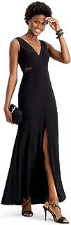 Petite Sheer Illusion-Inset Mermaid Gown, Black, 4 Petite
