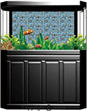 Aquarium Fish Tank Background,Nautical Decor,Sailing Boat Reflection Cloudy Sky Sandy Seaside Shoreline Hobby Water Sports,Decor Paper Green Water Grass Aquatic Style Like Real,W24.02