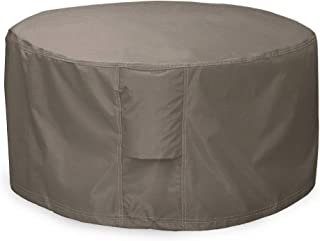 Leader Accessories Full Coverage Round Fire Pit/Bistro Table Cover Heavy Duty & Waterproof Fabric (50