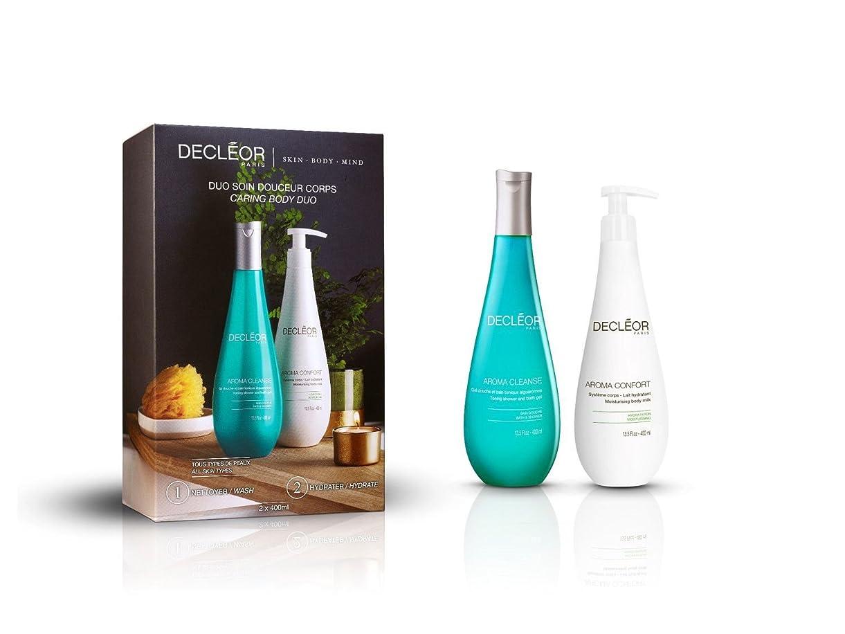 土地習慣シャワーデクレオール Caring Body Duo : Aroma Cleanse Toning Shower & Bath Gel 400ml + Aroma Confort Moisturising Body Milk 400m 2pcs並行輸入品