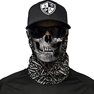 1 UV Face Shield - Multipurpose Neck Gaiter, Balaclava, Elastic Face Mask for Men and Women