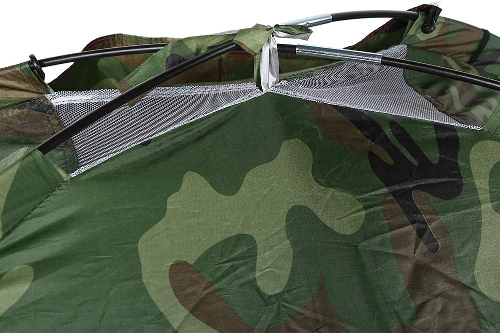 Qiilu Outdoor Camping Tent Camouflage Max 79% OFF Dome Waterproof Camp Omaha Mall