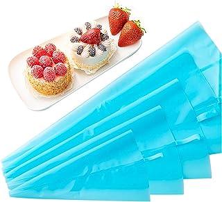 Ealicere 5 Pièces Bleu Poche à Douille Patisserie, 5 Tailles différentes Poche à Douille Silicone Réutilisables,DIY Kits p...