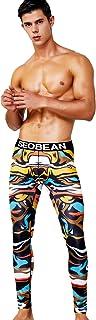 SEOBEAN Mens Low Rise Underwear Pants Long John Sports Leggings