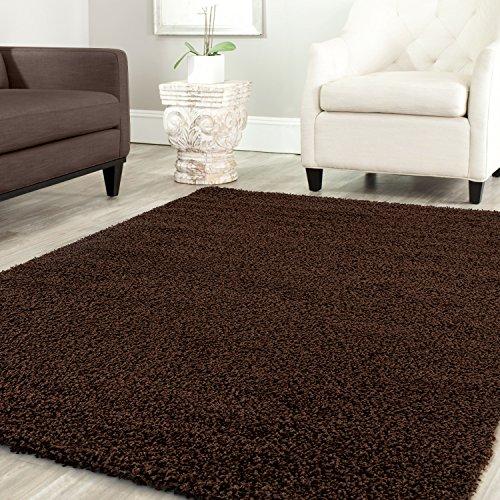 Shaggy Teppich Farbe Hochflor Langflor Teppiche Modern für Uni Farben, Farbe:Braun, Maße:160x220 cm