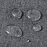 WOLTU TD3044gr Tischdecke Tischtuch Leinendecke Leinen Optik Lotuseffekt Fleckschutz pflegeleicht abwaschbar schmutzabweisend Farbe & Größe wählbar Eckig 130x260 cm Grau - 4