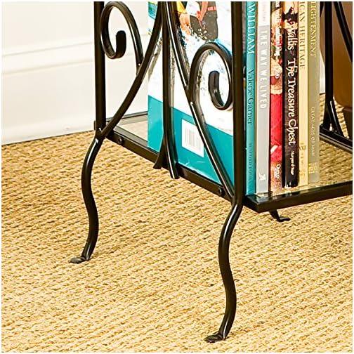 SEI Furniture End Table, Black
