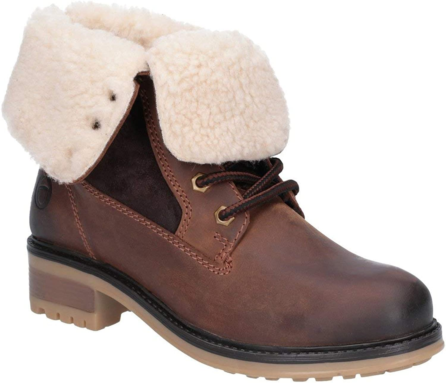 Cotswold Womens Ladies Marsden Lace Up Leather Mid Boot