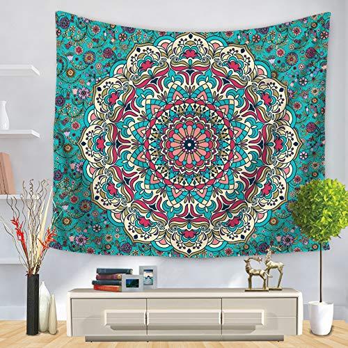 DROMEZ Tapiz de Mandala para Pared,Hindu Etnico Psychedelic Tapestry Wall Decorativo,Ideal como Pareo,Colcha,Mantel,Alfombra de Picnic,Decoración Habitación Niños Salón Dormitorio,A,130 * 150CM
