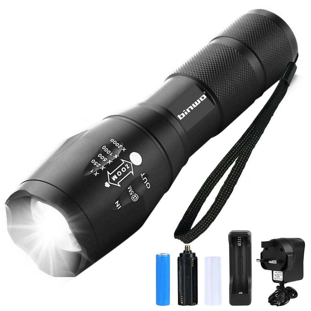 LED Super Bright Zoom Flashlight Powerful Camping Lamp Torch x 1
