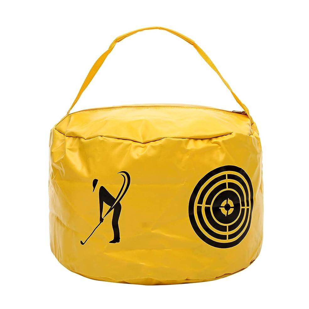 合図重要感謝するBeho ゴルフインパクトパワーバッグスイングエイド練習トレーニングストライクバッグヒットトレーナーツール - 黄色