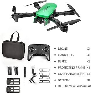 MoJoyo R8 Drone HD 4K Antena de Cuatro Ejes Aeronave Aeronave de Doble cámara con 2 baterías, Flujo de luz Verde