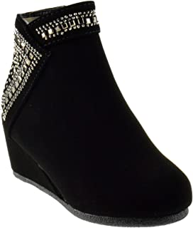 buy popular 0f402 43d7b Forever Link Norita 71K Womens Wedge Rhinestone Ankle Booties