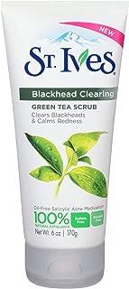St. Ives Blackhead Clearing Face Scrub Green Tea 6 oz(Pack of 8)