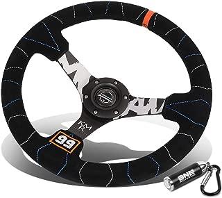 Best 350mm flat steering wheel Reviews