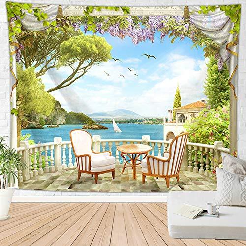 Amody Tapisserie Murale Moderne Table et Chaise Tapisserie Murales Visage Style 6 Couverture Murale Mur Art pour Salon Chambre Décor 95x73CM