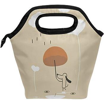yibaihe Isolierte Lunch Tasche Tasche K/ühler braun afrikanischen Muster Lunch-Boxen Tragbarer Handtasche f/ür Outdoor Picknick Frauen Kinder