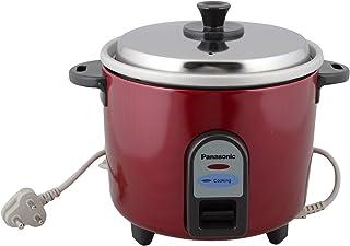 Panasonic SR-WA10 450-Watt Automatic Cooker, Red (Raw Capacity: 1L / 0.6Kg Rice)
