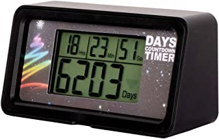 Digital 9,999 Day Countdown Clock Timer Days LCD Backlight for Retirement Wedding Vacation Christmas Event Classroom Kitchen Cooking
