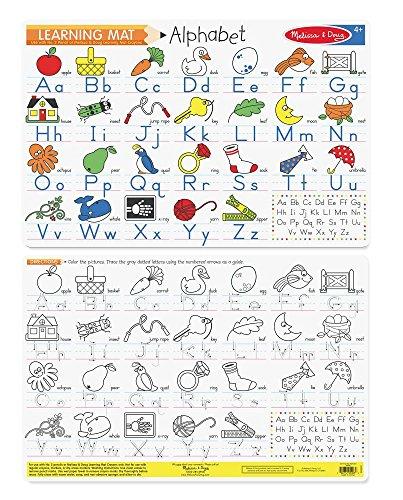 Melissa & Doug Alphabet Write-A-Mat Puzzle
